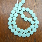 10mm resin coin beads Solid Mint