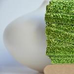 Green Velvet Glitter Ribbon 5.0m} Sparkly Gift Ribbon | Glitter Gift Ribbon
