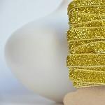 Gold Velvet Glitter Ribbon {5.0m} Sparkly Gift Ribbon | Glitter Gift Ribbon