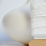 White Velvet Glitter Ribbon {5.0m} Contemporary Gift Wrap | White DIY Craft