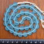 resin beads 1 x strand of 10mm pale baby blue Coins