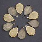 10 x Antique Bronze TeardropTrays-fits 18 x 25mm Cab