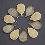10 x Antique Bronze TeardropTrays-fits 18 x 25mm Cab