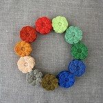 (Value pack, new shades) pack of 25, Crochet flowers, your choice of colours