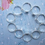10 Silver Rings, 8mm glue pad