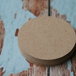 30 Large Kraft Circles  ~ DIY projects ~ Price Tags