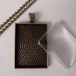 10 x smaller size rectangle pendant tray Kit- Antique bronze