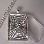 10 x smaller size rectangle pendant tray Kit- Silver plated