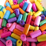 180  Wooden  Bead Tubes