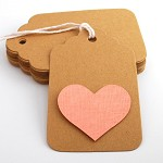Tags 100 Scalloped Large - Brown Kraft - Blank Gift Tags