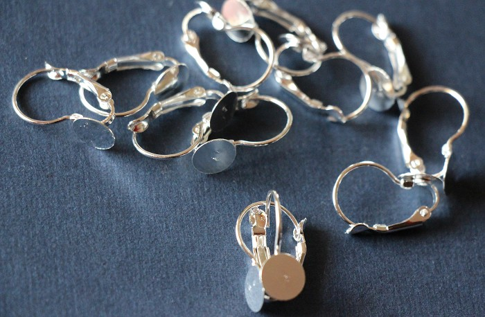 10 Silver Plate  Earring Wires (5 pairs)