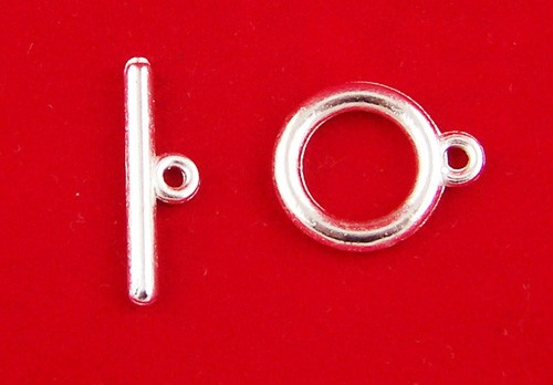 5 Sets of Silver Plate Toggle Clasps