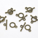 5 Sets of Antique Bronze Toggle Clasps