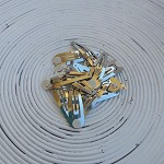 12 x (50mm) Silver Snap/Hair Clips with Glue Pad