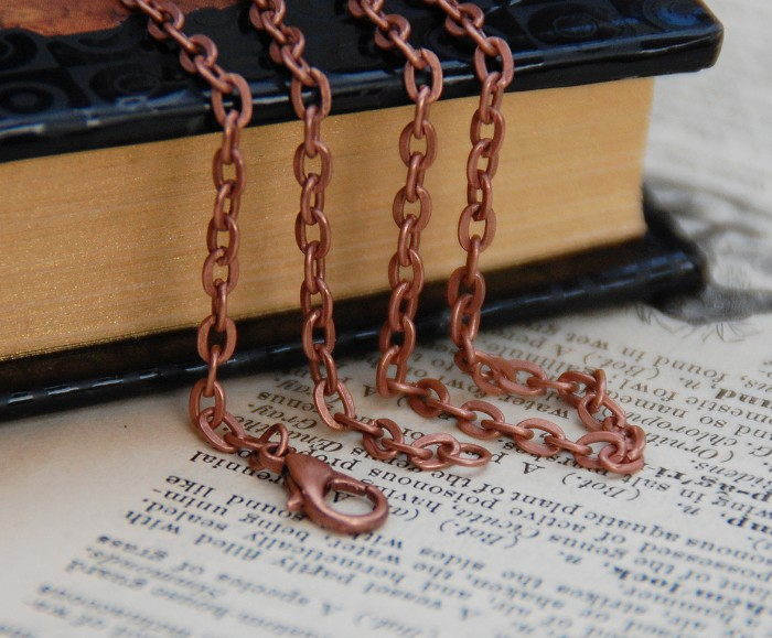 10 x Copper Rolo Chain Necklace 60 cm Pendant Supplies