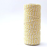Bakers Twine 12 Ply - 10m - Sunshine Yellow and White