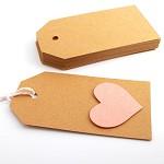 Tags 100 Basic Large - Brown Kraft - Blank Gift Tags