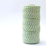 Bakers Twine 12 Ply - 10m - Green and White