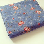 Blue floral Japanese  fabric