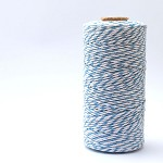 Bakers Twine 12 Ply - 10m - Pale Blue and White