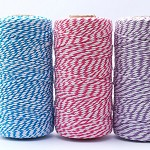 Bakers Twine 8 Ply - 15m - 3 Colours - Bright Blue, Bright Pink, Lavender