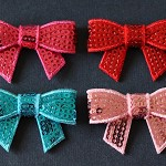 Pretty Sequin Bows - 4 Colours