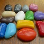 Mixed Bag 14 x Bedrock resin pebble beads