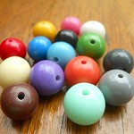 Mixed Bag 15 x 14mm bedrock resin ball beads