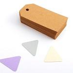 Tags 100 Basic Small - Brown Kraft - Blank Gift Tags
