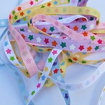 5 yards Star Grosgrain Ribbon 10mm