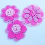 Pink Felt Flower Embellishments