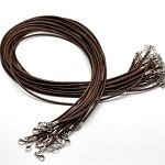 LAST SET 10  Coffee Cord Necklaces -47cm