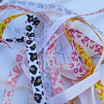 5 yards Leopard Print Grosgrain Ribbon 10mm