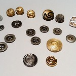Assorted Metal and Metallic Buttons