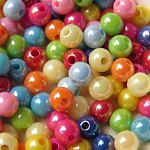 150  Multicolour Round Spacer Beads