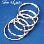 10 x High quality Iron Flat Split Key Rings,Platinum color, 35x3mm