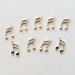 Tibetan Silver Music Note Charms 10pc