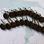 10 pairs Antique bronze lever back earrings (20 pcs)