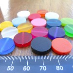 Mixed bag of 18 x 15mm resin coin beads entire colour range
