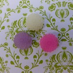 +SALE+ 50 pces Frosted flower cabochons (pink, white & light purple)