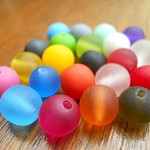 Mixed bag 22 x 10mm ball resin bead