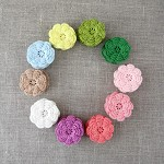 April flowers value pack of 25, Crochet flowers in your choice of colours