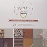 PROJECT LIFE Designer Paper 12x12 Cinnamon Edition 24pc
