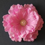 NEW Large Silk Ruffled Peony Flower- Pink Mauve