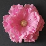 NEW Large Silk Ruffled Peony Flower- Pink Mauve
