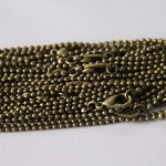 Longer length 20 x Dainty 1mm ball chain with lobster clasp 75cm- Bronze