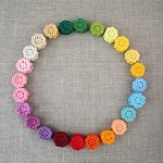 "(NEW colours!) Pack of 5, Crochet flowers ""daisy"" in colour of your choice"