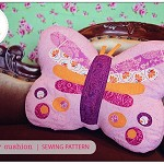Butterfly Cushion Sewing Pattern Butterfly Novelty Pillow PDF ePattern