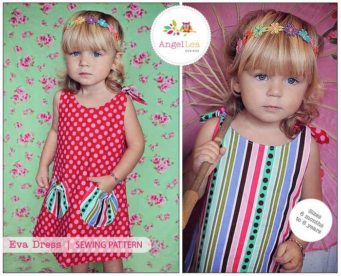Reversible Tie Top Dress Pattern. PDF Sewing Pattern and Tutorial for Eva Dress