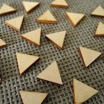 20 Wood Triangles Lasercut